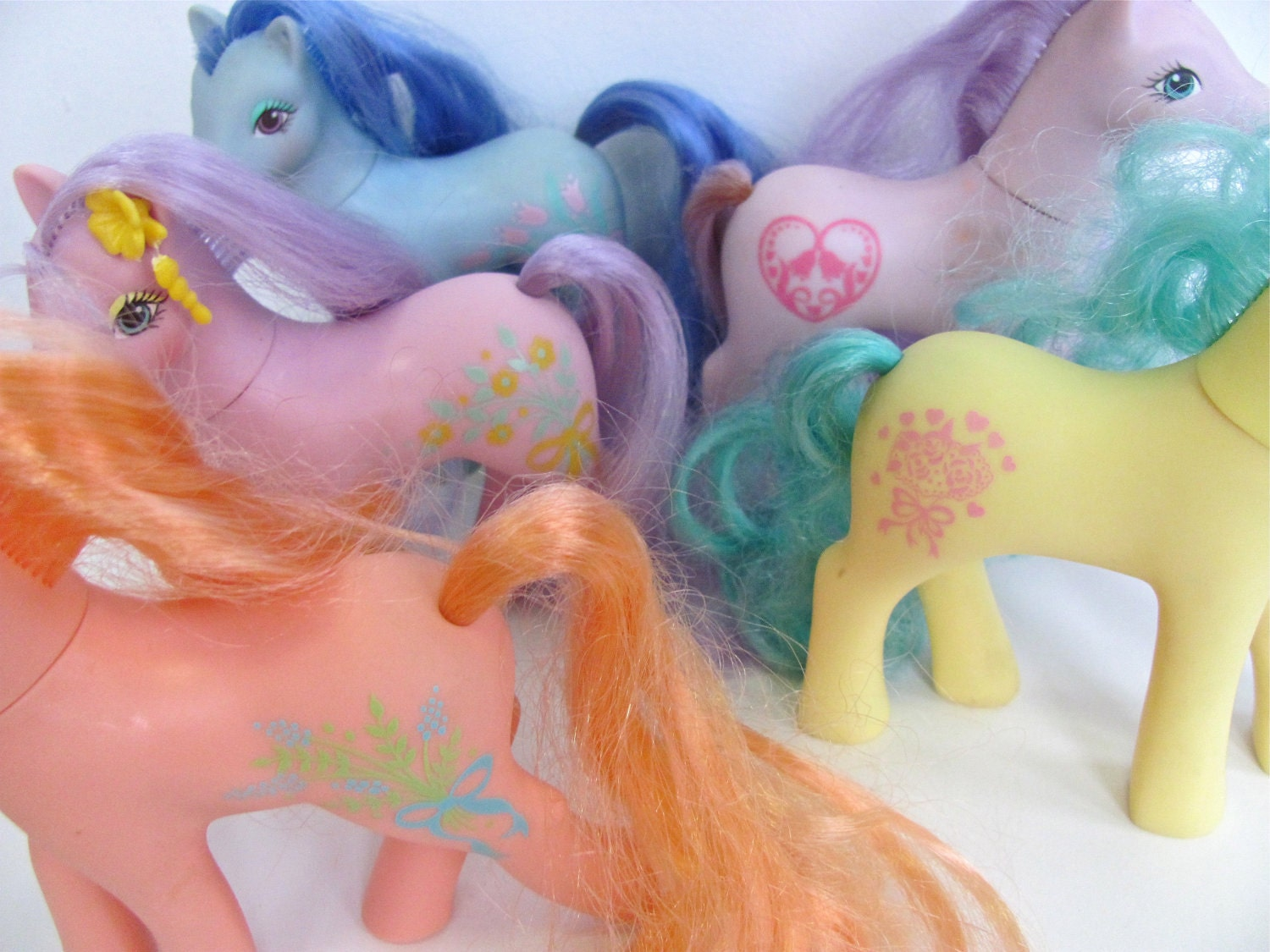 S A L E Sweetheart Sisters and Pretty Pony vintage My Little Pony set of 5