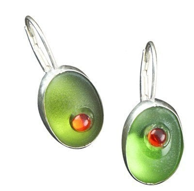cocktail olive earrings - mannmadedesigns