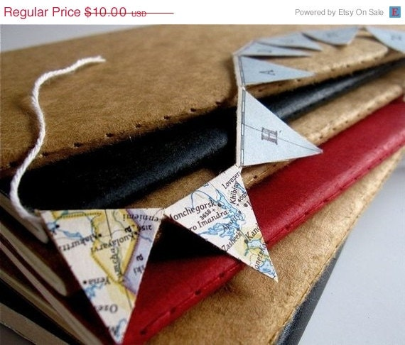 Personalized Mini Pennant Banner from Vintage Maps Cyber Monday Etsy - Palimpsestic