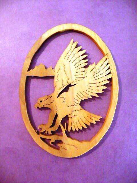 Landing Eagle wood cutout - ($10)