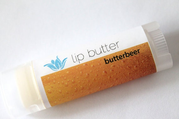 Butterbeer lip butter, natural vegan gluten-free lip balm, butterscotch vanilla wizardry