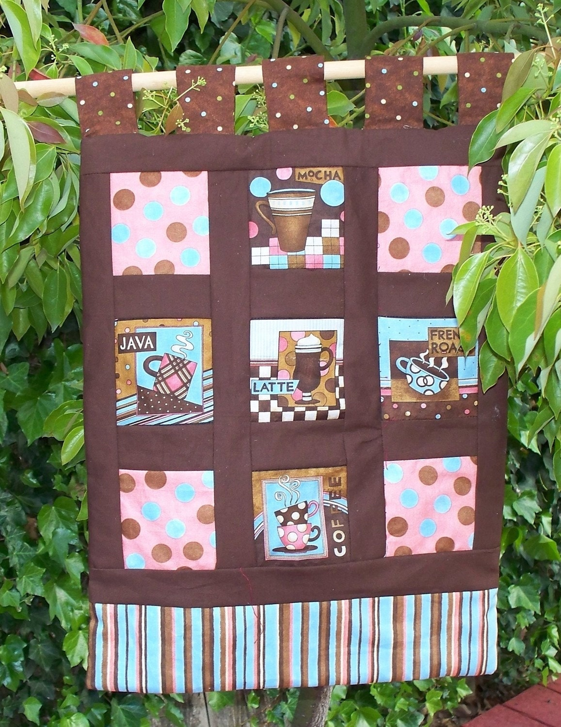 Quilted Wall Hanging - Need my afternoon coffee break