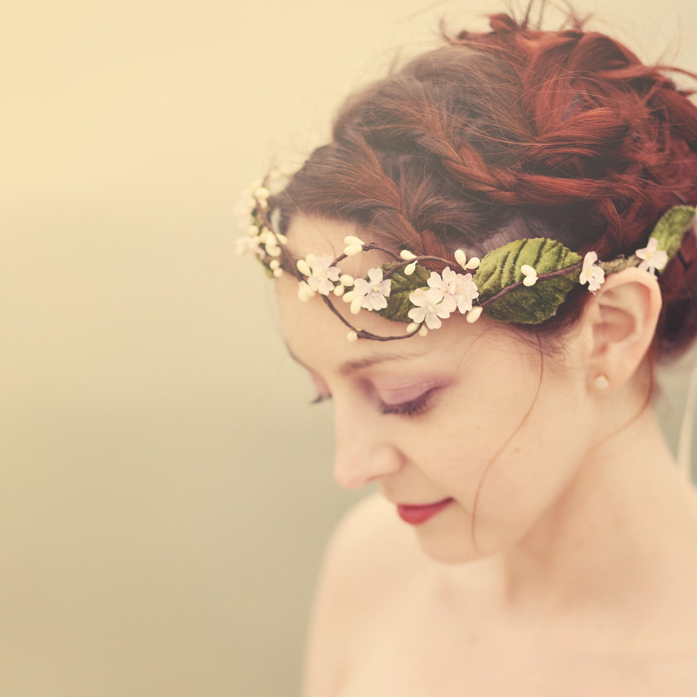 flower hair crown 'WENDY' wedding accessory head piece