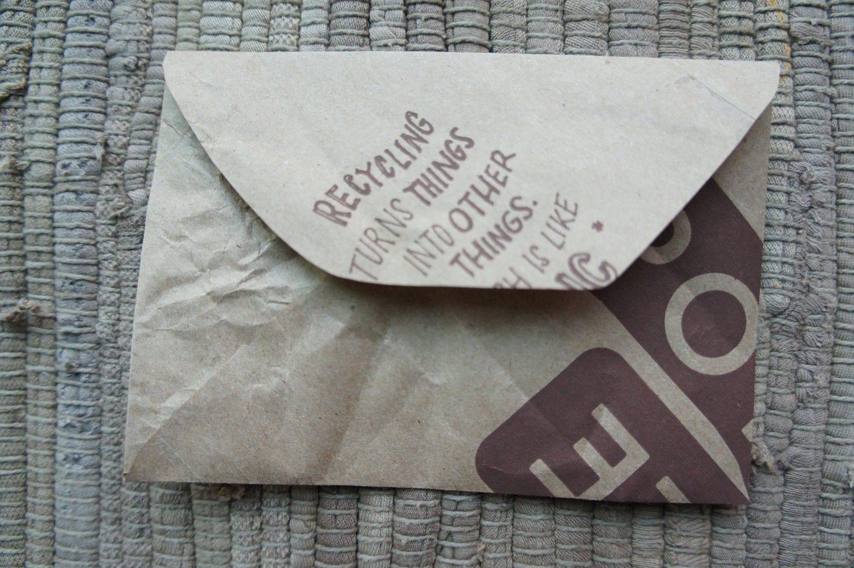 set of five chipotle bag envelopes