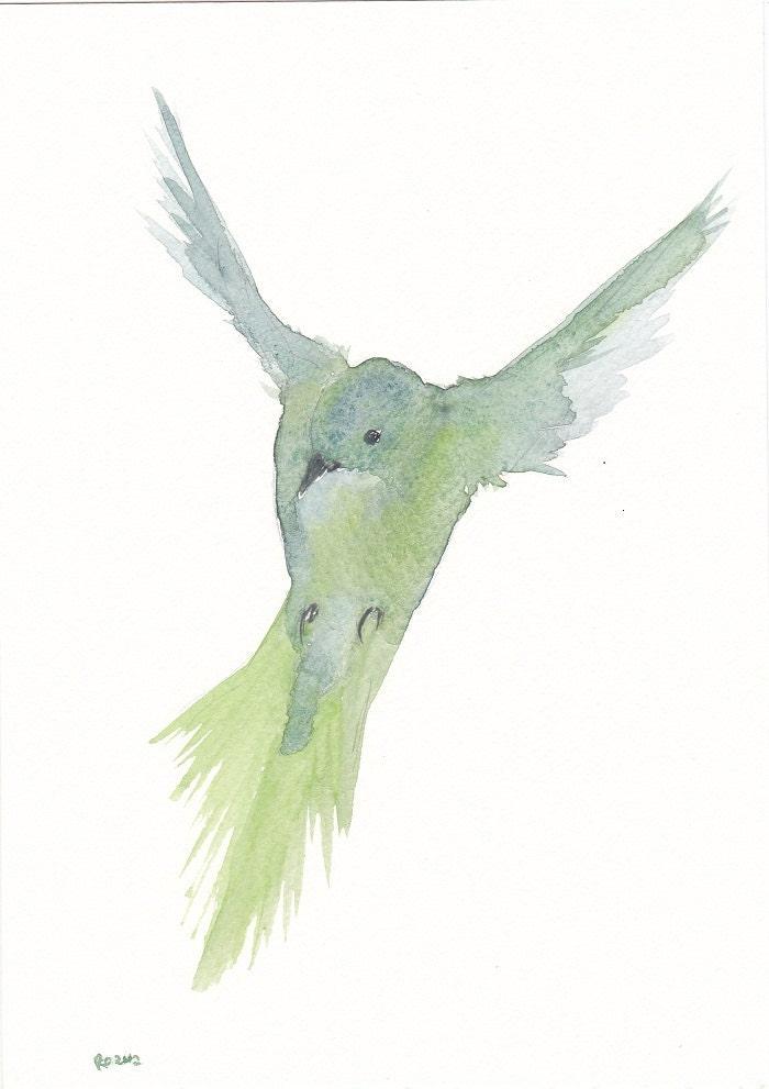 Watercolor Bird Flying Flying Bird Mobile