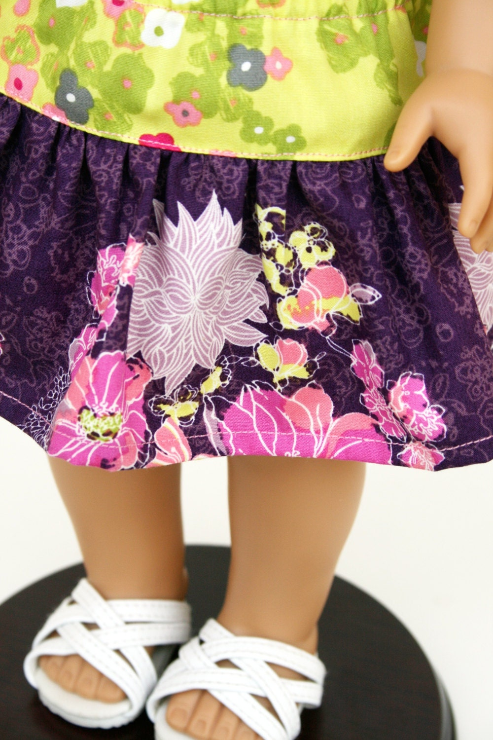 American Girl Doll Clothes - The Rose Ballad Collection, A Yoke Skirt in Serenade Moonlight
