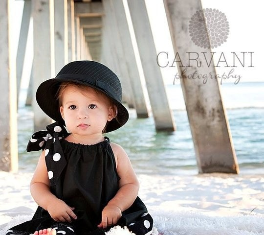 Classic Beauty Black and White Pillowcase Dress INFANT through 5T - AliBeanBaby