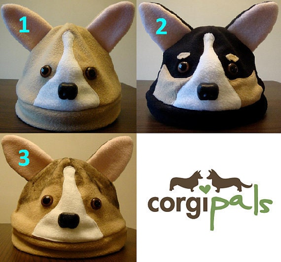 Fleece Welsh Corgi Hats - CorgiPals