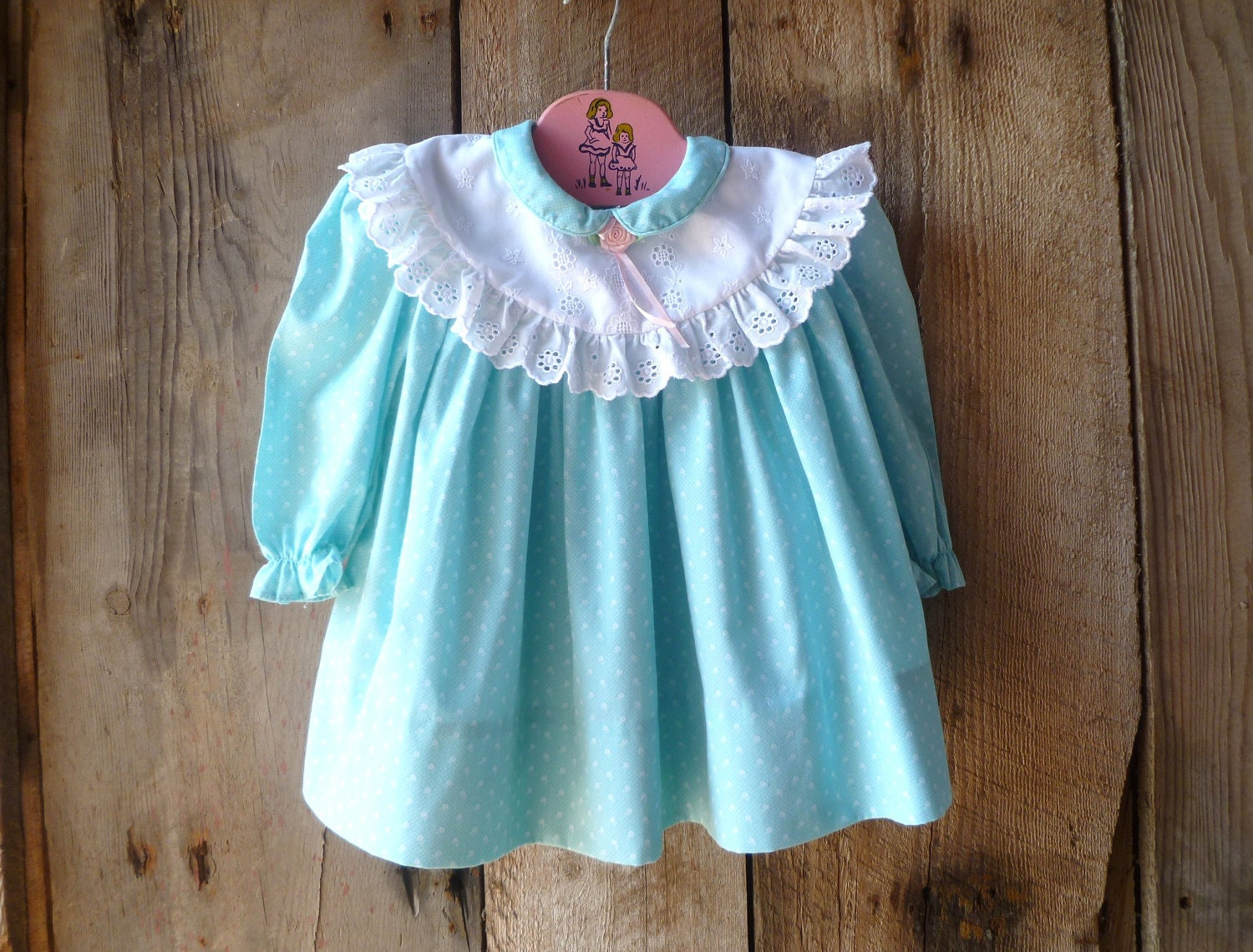 vintage Polly Flinders baby dress // size 12-18 months - farmhousevoguekids