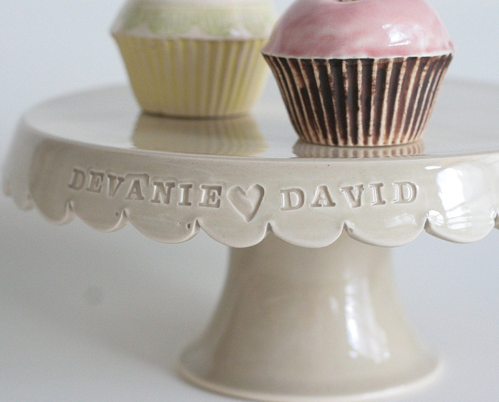 Custom Wedding Cake Stand - 7 inch - color options