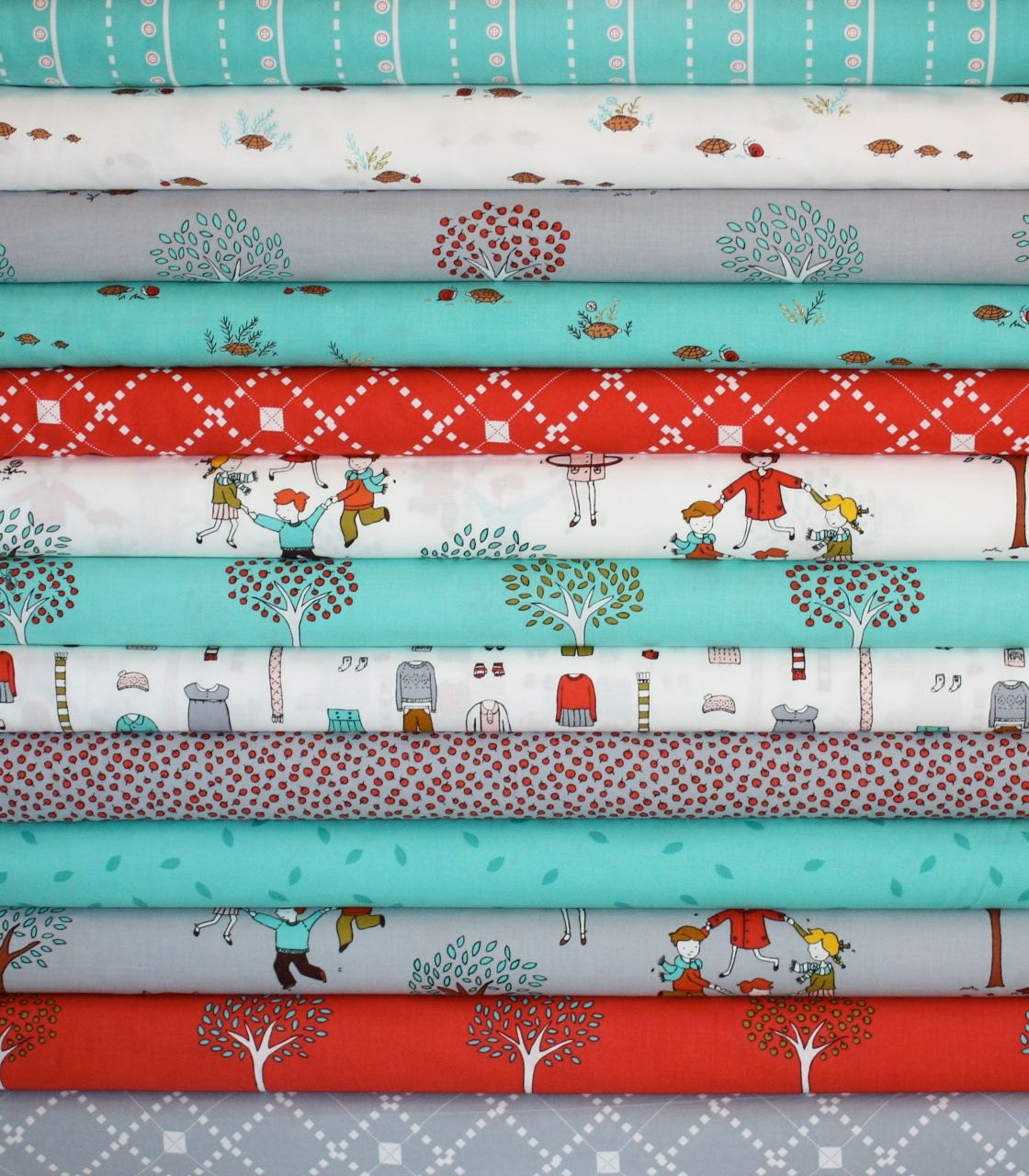 Little Apples  Fabric by Aneela Hoey for Moda Fabrics-  1/2 Yard Bundle, 13 total