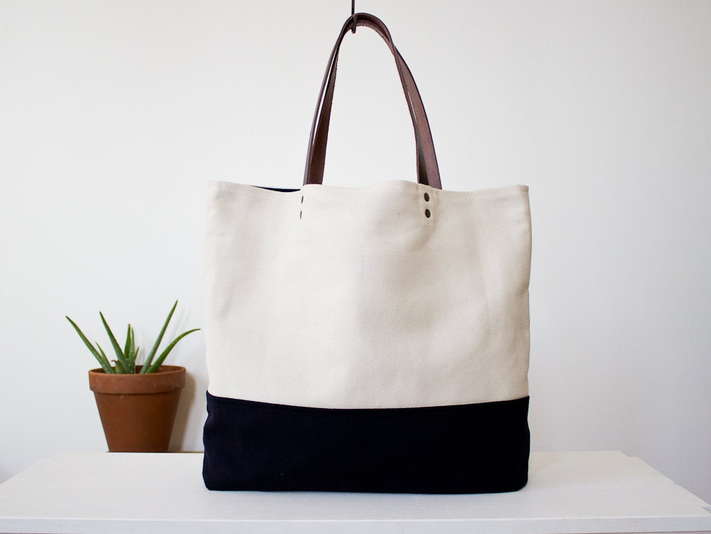 Tote bag, cotton and wool