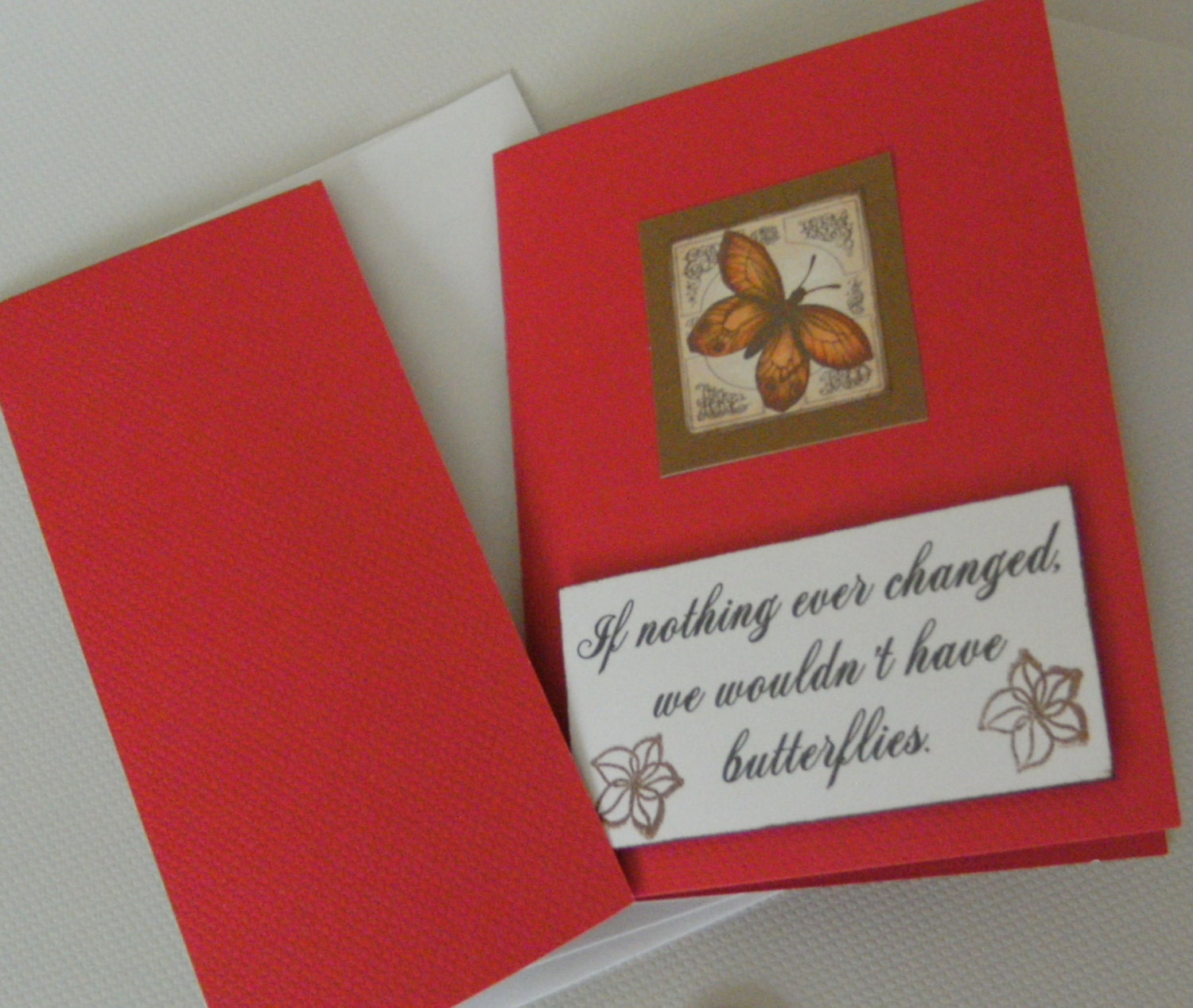 Butterfly Encouragement Graduation Handmade Card FREE SHIPPING - creativedesigns