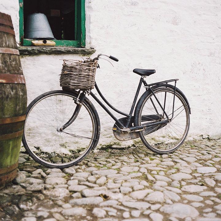 Old Traditional Irish Bike, Ireland, Black Old Bike, Home Decor Photograph, Interior Wall Art, 8 x 8 inches size - AilbhePhotography