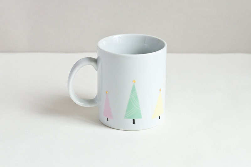 Tasse aux trois sapins de Noël