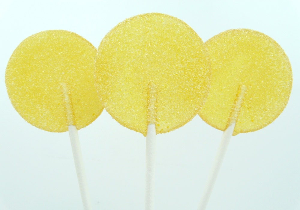 Lemon Sugar Lollipops