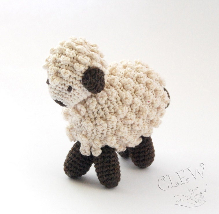 Handmade Crocheted Soft Toy - Amigurumi Sheep / Lamb