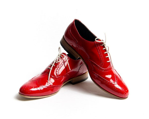 red patent oxford shoes - FREE WORLDWIDE SHIPPING - goodbyefolk