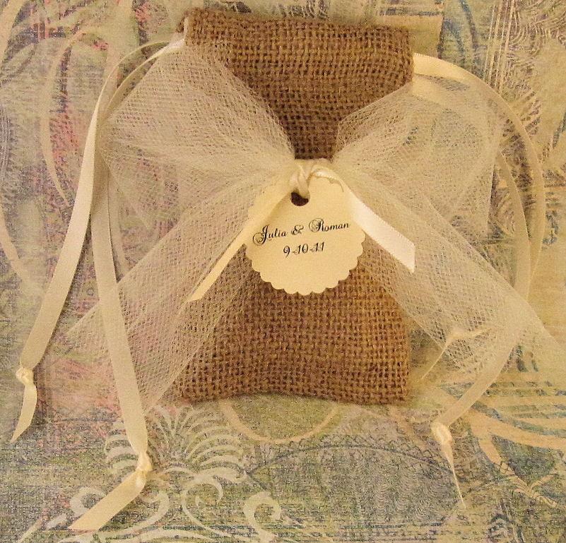 Свадебные сувениры Burlap сумки
