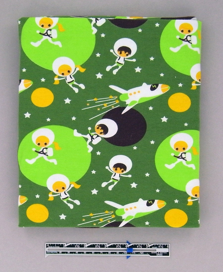 SPACE KIDS cotton elastane jersey knit in Green, 1 m