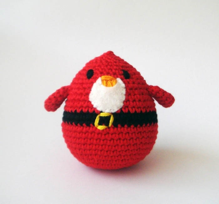 Plush  Santa  Bird Stocking Stuffers Hostess Gift.