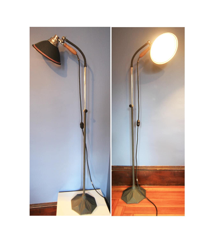 unique floor lamps fabulous vintage industrial floor lamptimber tripod. Black Bedroom Furniture Sets. Home Design Ideas