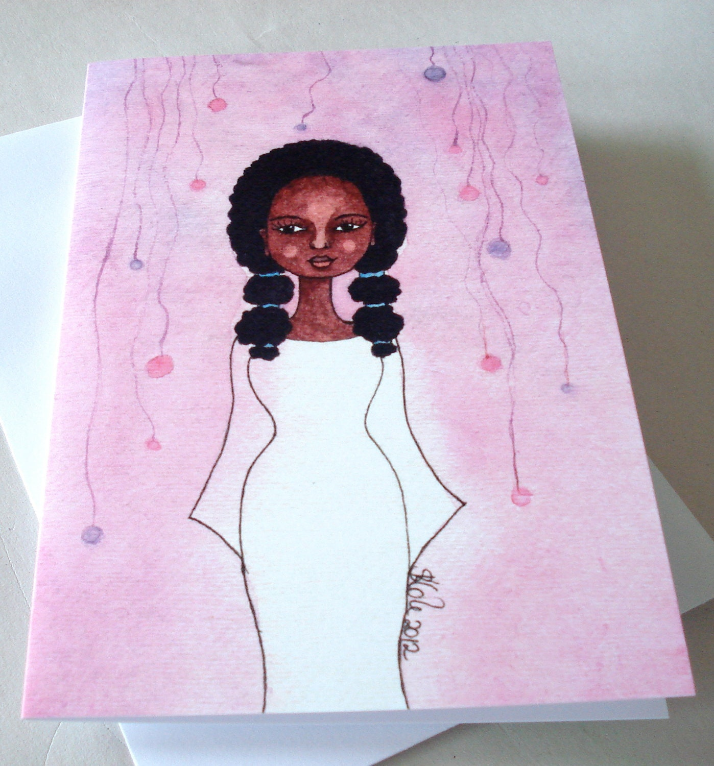 Printed African American Greeting Card