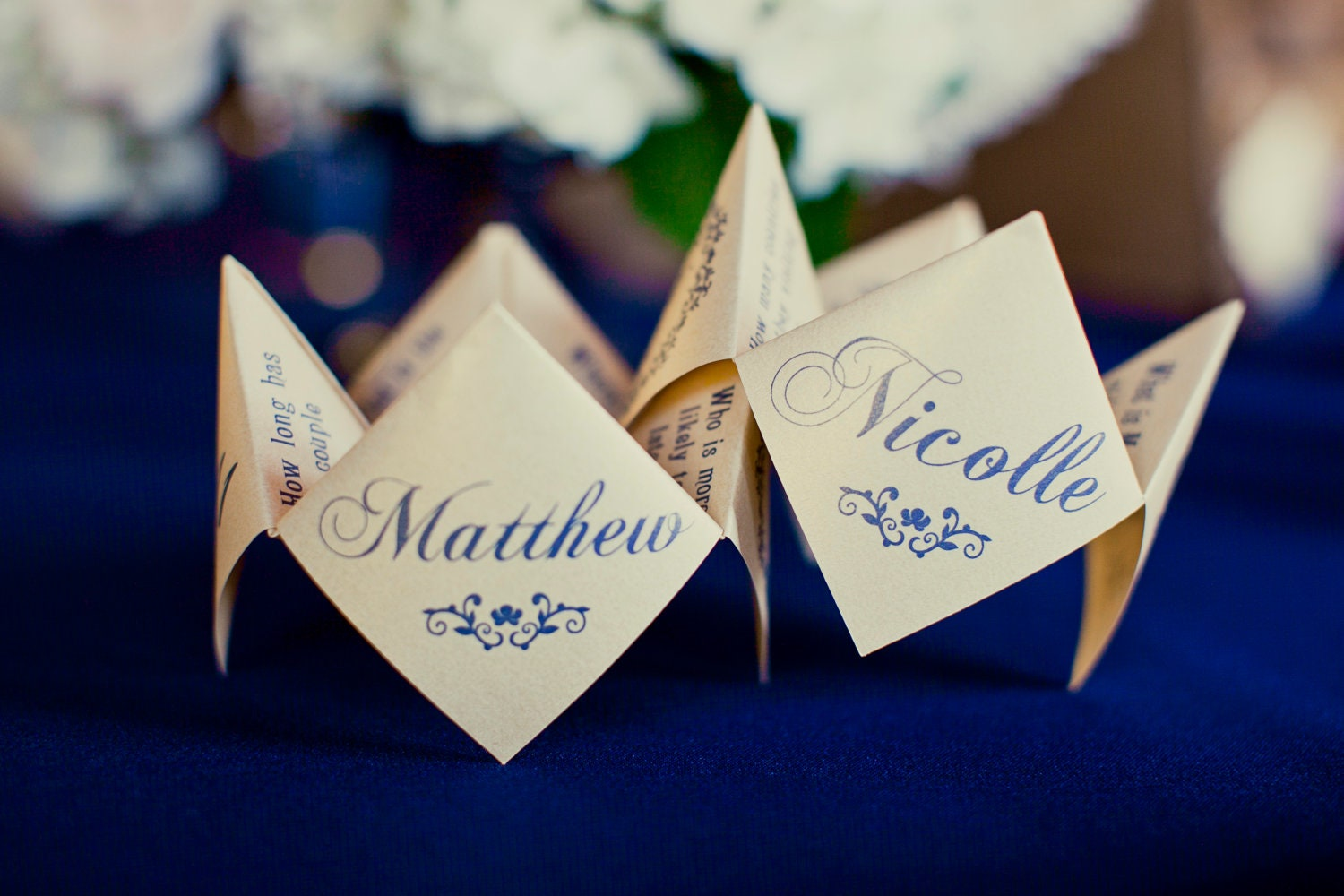 "DIY Printable ""Vintage Garden"" Wedding Cootie Catcher/Fortune Teller Favor"