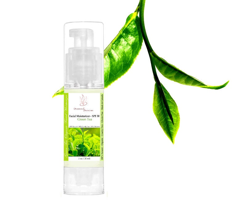 100% Natural Green Tea Daily Moisturizer SPF 30 - DeliziosoSkincare