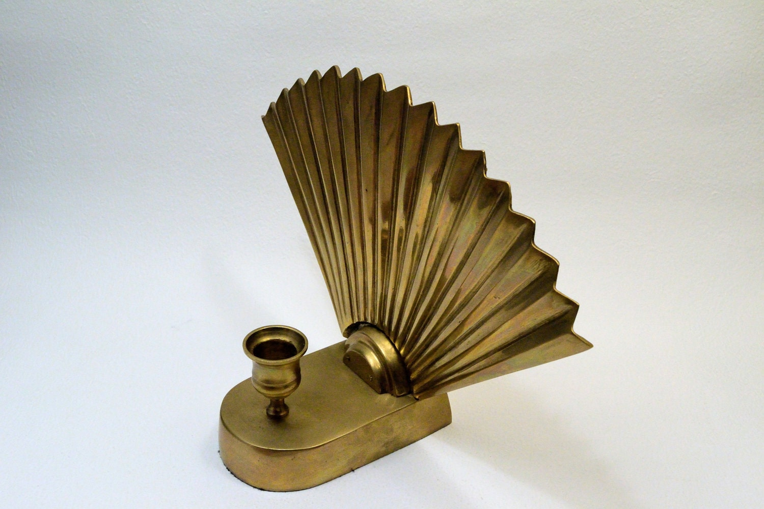 Fritz Brass Candle Holder Art Deco by IDKlare on Etsy