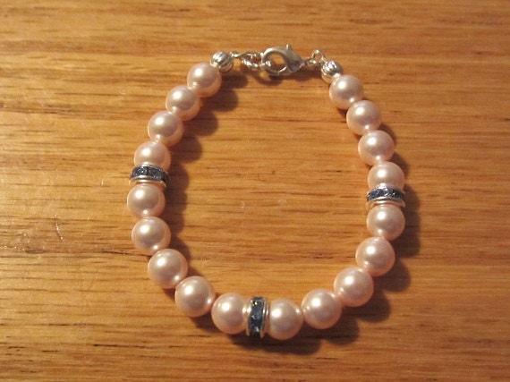 Baby Shower Gift/Newborn Pearl Bracelet/Godmother Gift/Premium Pearls - roziespearls