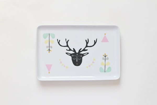 Oh deer serving platter