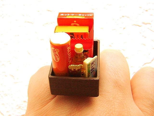 Kawaii подарка кольцо продовольственная