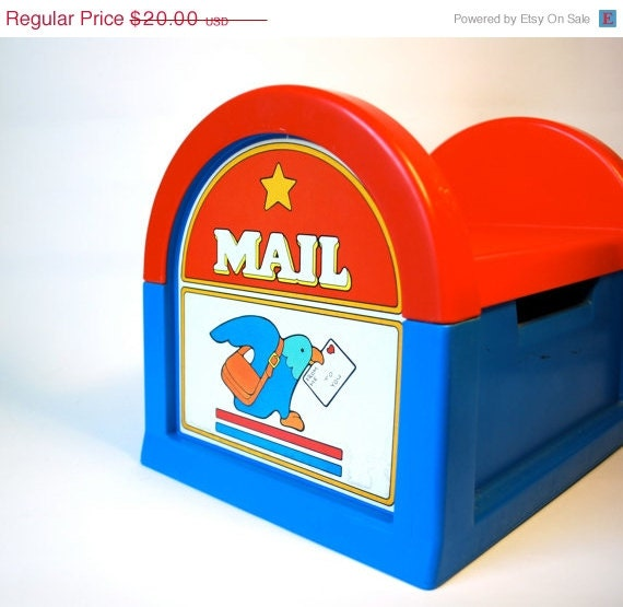 ON SALE Fisher Price Step Stool Mail Box 1984 - WonderlandToys