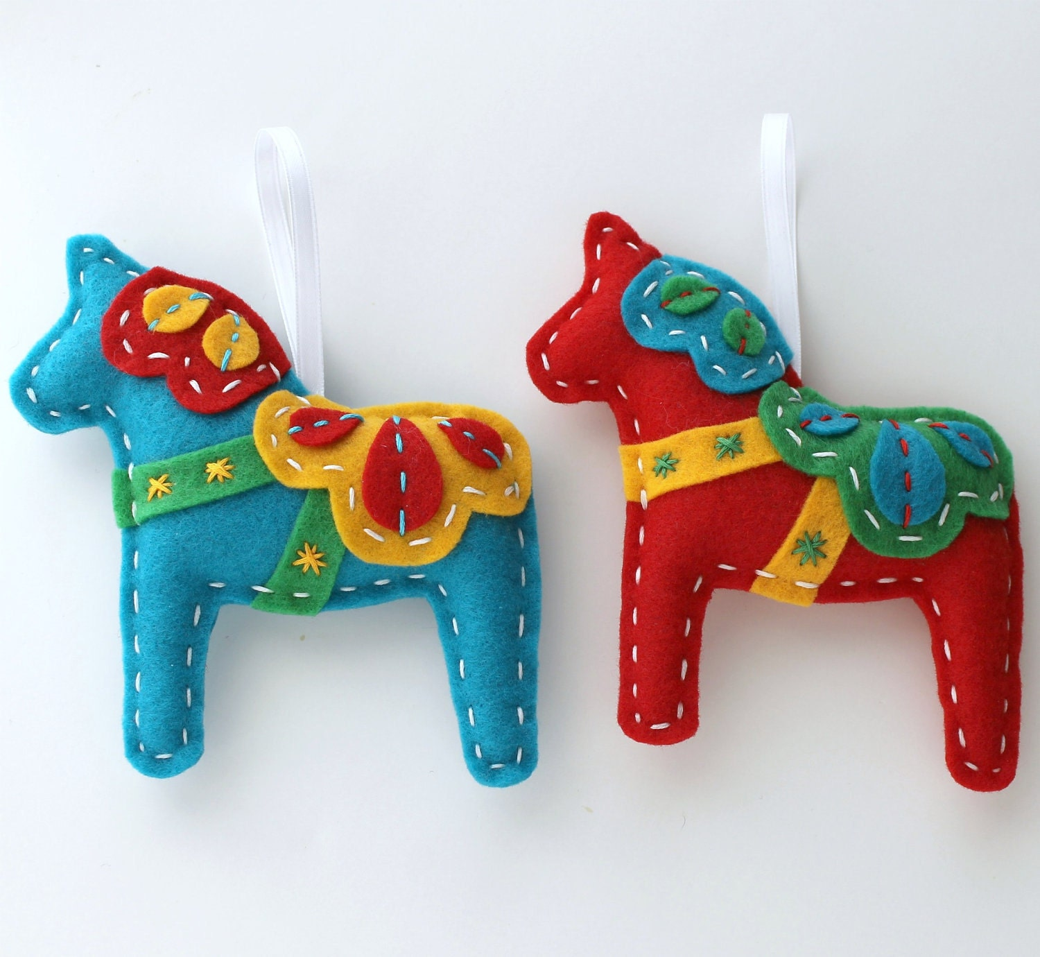 Christmas Tree Ornaments Horse: FairyFiligree: The Dala Horse