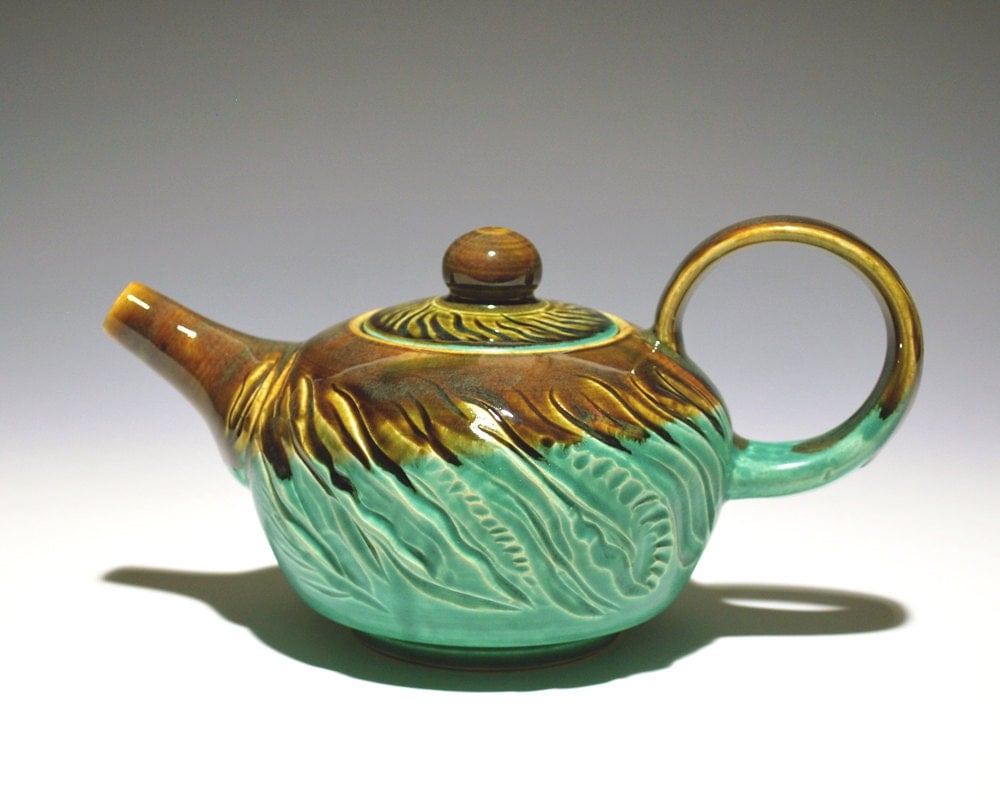 Hand Carved Teapot - Hasta