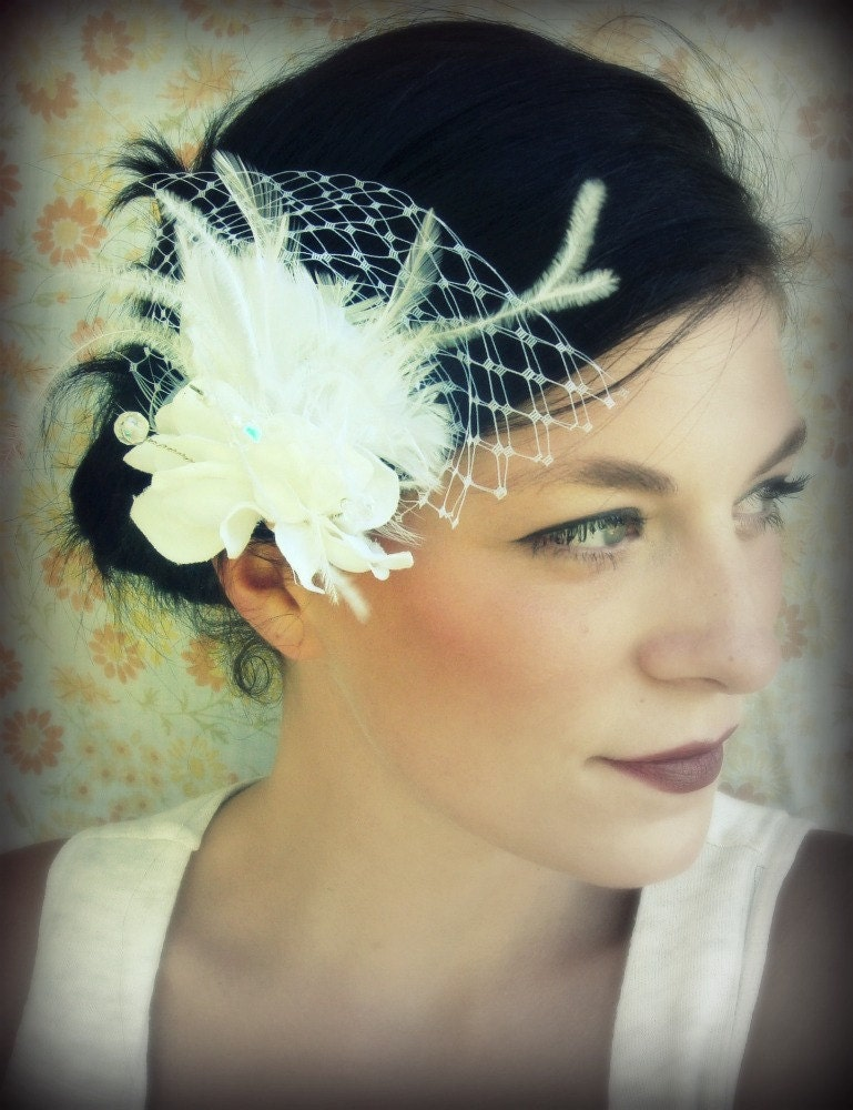 Bridal Hair Fascinator -Flowing Love
