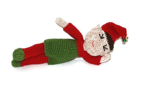 Boy Crochet Elf Christmas Doll Amigurumi