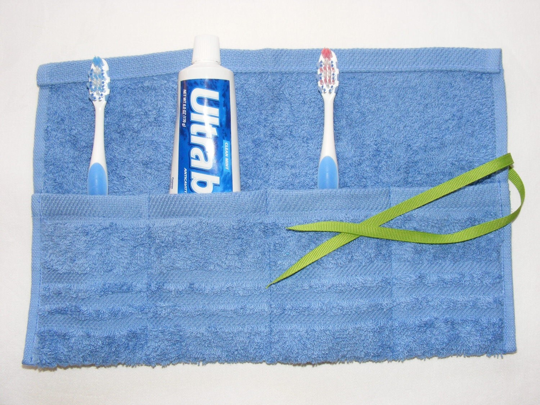Escova de veludo e bolsa de viagem Colar no Oceano azul ... grande dom ... frete grátis