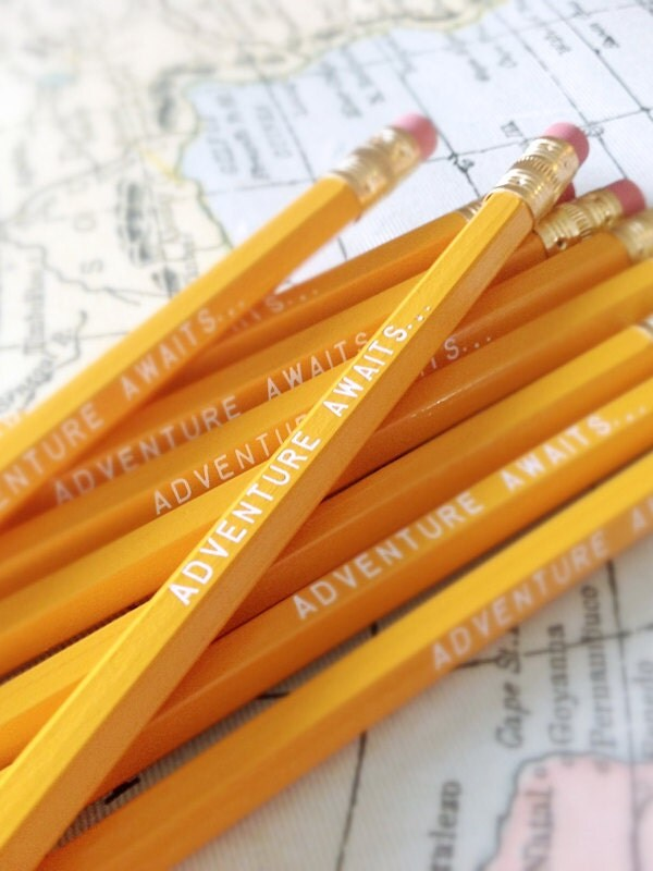 Adventure Awaits Pencil 6 Pack Yellow Back to School - Earmark