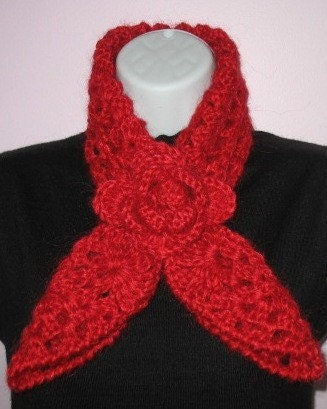 Knits and Knots: Tunisian Knit Stitch Scarf in Mohair - Free Pattern
