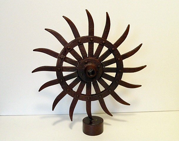 Vintage Industrial Rotary Hoe - Industrial Decor - RusticAttic