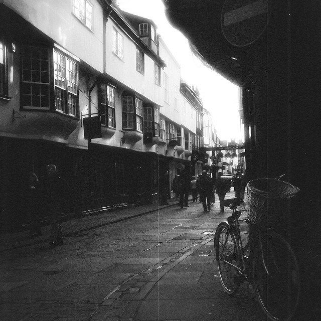 "a York street, England (2010) - 8x8"" fine art print - SaraTeresa"