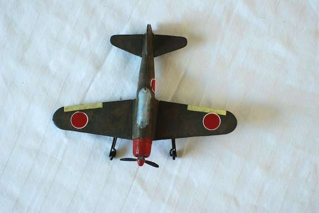 Vintage wwII japanese fighter model airplane, japan, wwII collectables, model planes, collectables, home decor