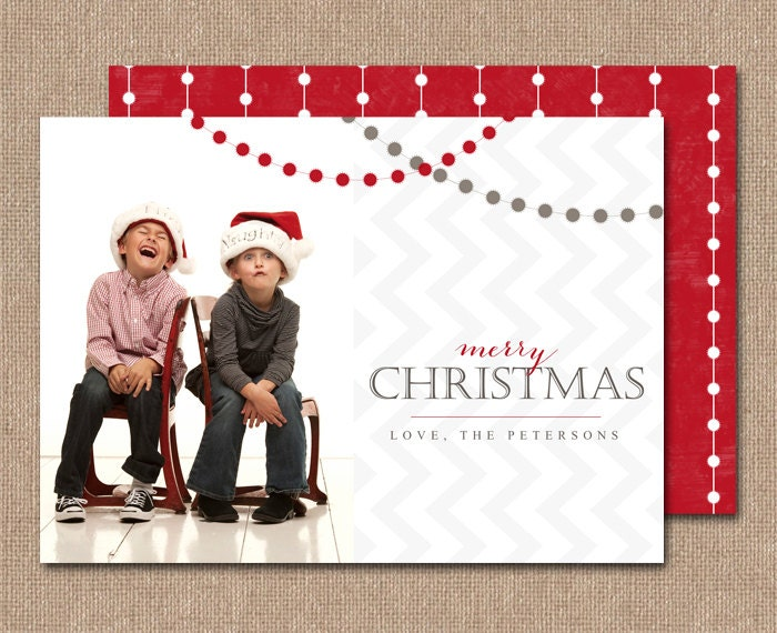 PHOTO CHRISTMAS CARD - Digital or Printed - cc1