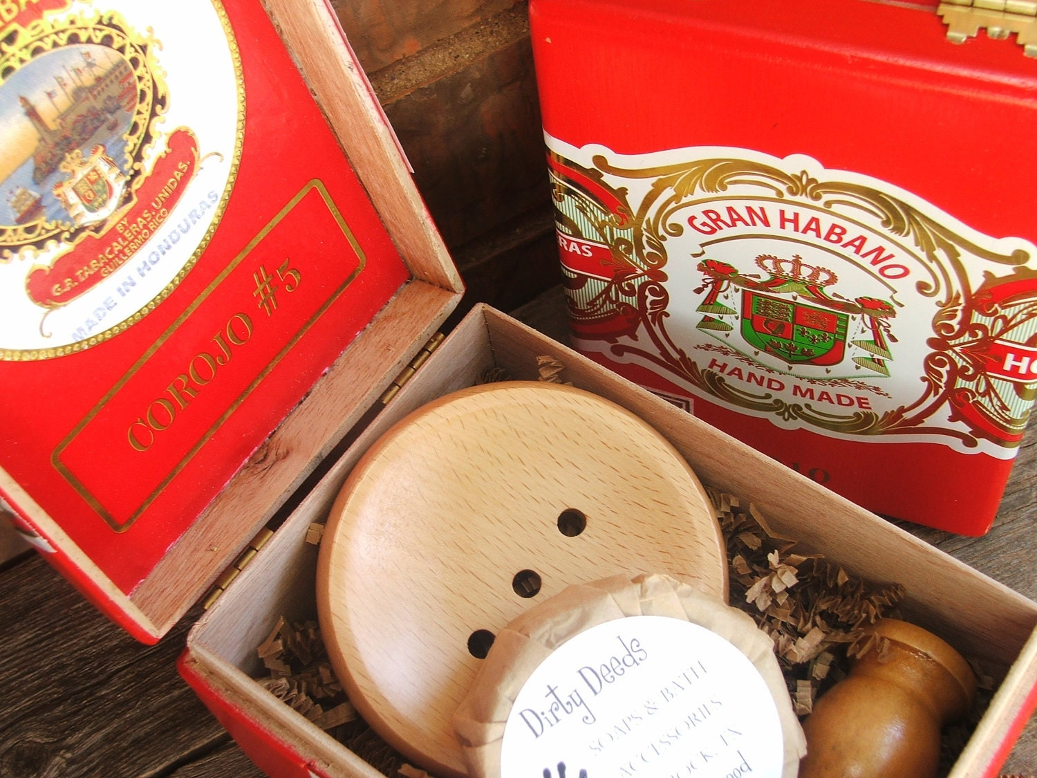 Shaving Kit Mens Sale Cigar Box Gift Set,