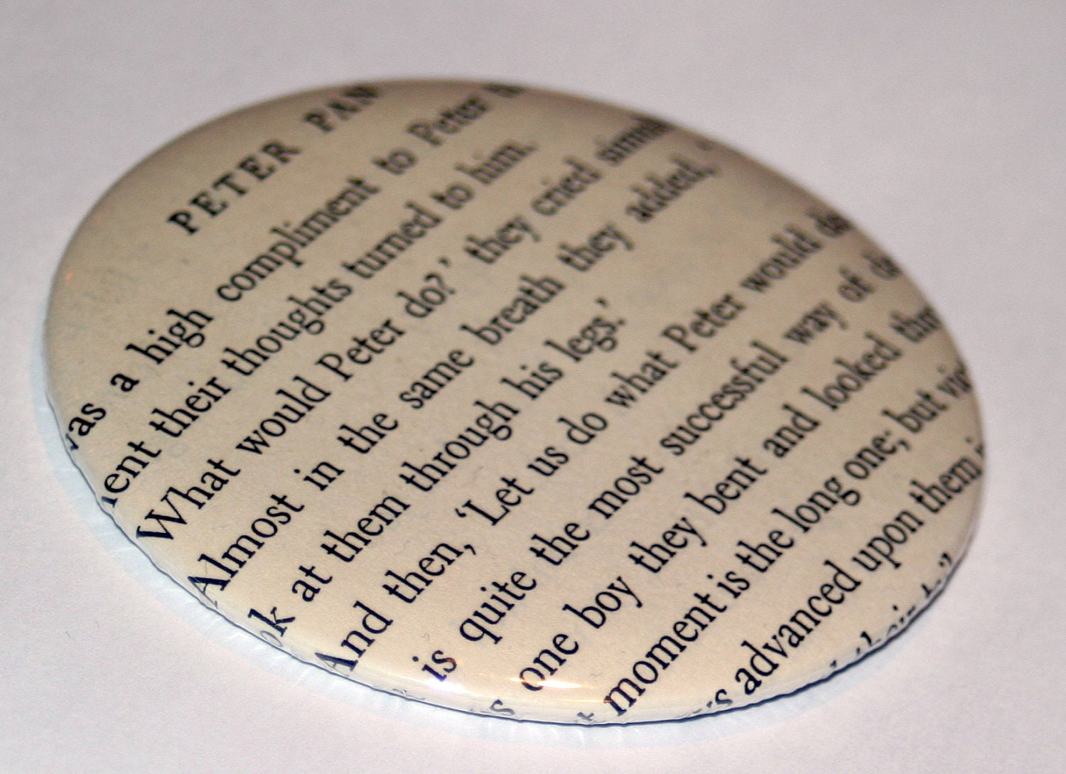 Peter Pan Literary Pocket Mirror
