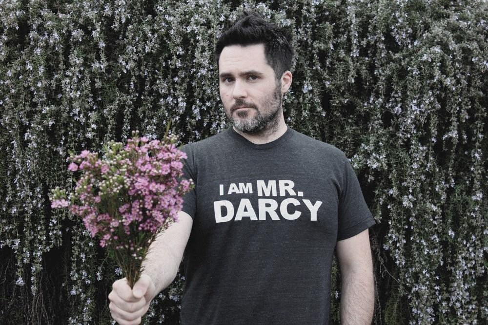 I Am Mr. Darcy- S.M.L.XL.              charcoal grey  - Jane Austen