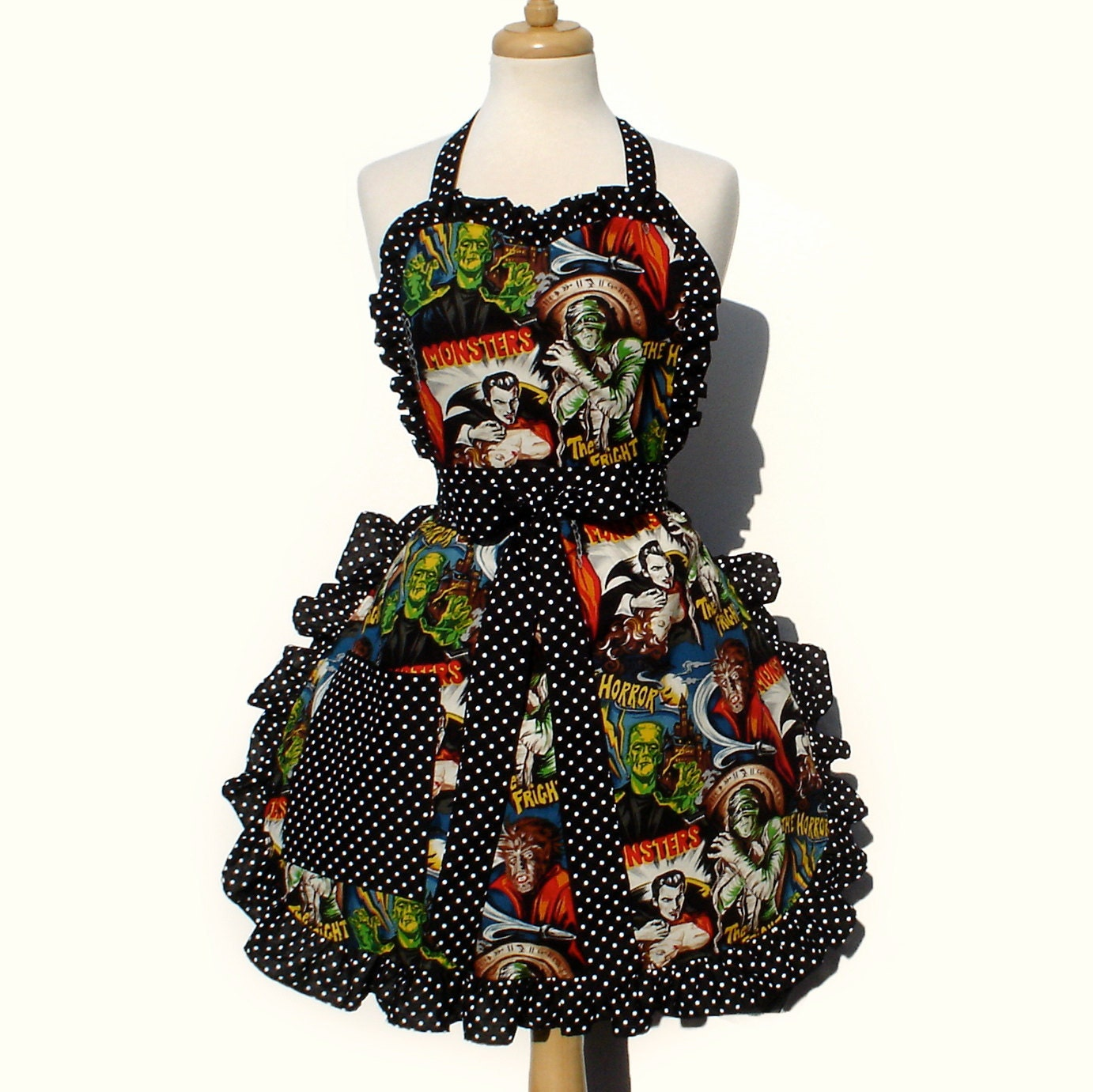 Ready To SHIP Hollywood Monster Apron Deluxe