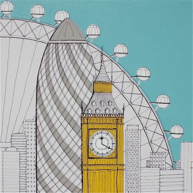 SIGNED PRINT London Landmarks